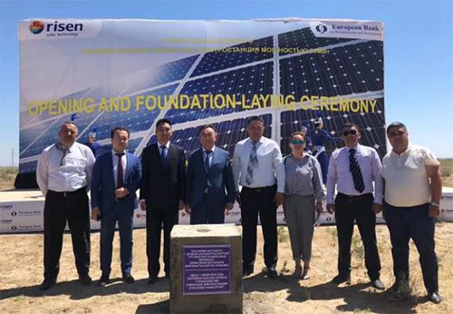 东方日升哈萨克斯坦50MWp EPC光伏电站开工