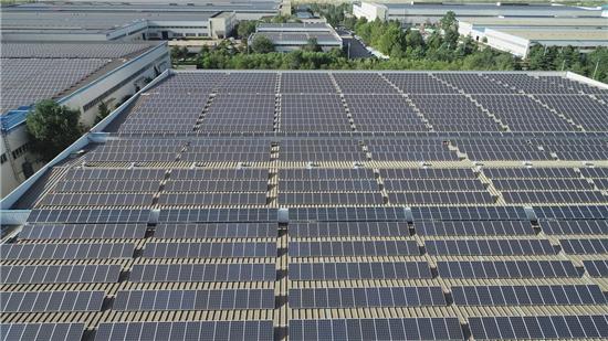 支持企业节能减排 打造绿色生态工业园区 金马光伏电站建成运行